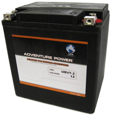 UBVT-2 Motorcycle Battery replaces 66010-97 for Harley