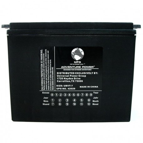 UBVT-7 Motorcycle Battery replaces 66006-65A for Harley