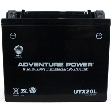 Adventure Power UTX20L (YTX20L) (12V, 18AH) Motorcycle Battery