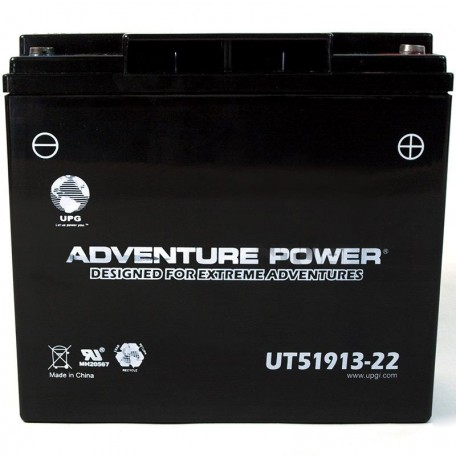 Adventure Power UT51913-22 (PC680) (12V, 22AH) Motorcycle Battery