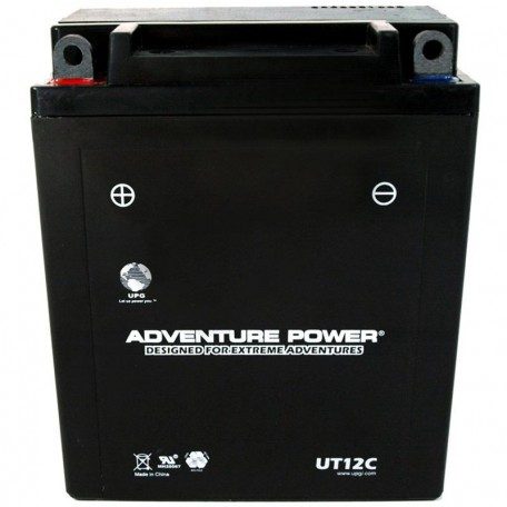 Adventure Power UT12C (YB12A-A) (12V, 12AH) Motorcycle Battery