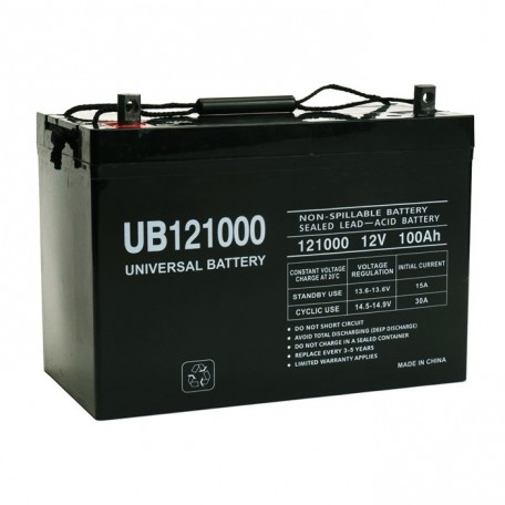 Pride BATLIQ1011 AGM (Group 27) 12 Volt, 100 Ah Replacement Battery