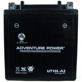Adventure Power UT10LA-2 (YB10L-A2) (12V, 11AH) Motorcycle Battery