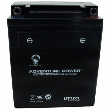 Adventure Power UT12CL (YB12AL-A) (12V, 12AH) Motorcycle Battery