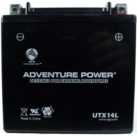 Adventure Power UTX14L (YTX14L-BS) (12V, 12AH) Motorcycle Battery