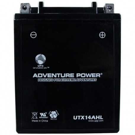 Adventure Power UTX14AHL (YTX14AHL-BS) (12V, 12AH) Motorcycle Battery