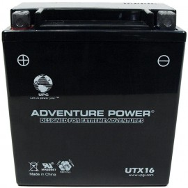 Adventure Power UTX16 (YTX16-BS) (12V, 14AH) Motorcycle Battery