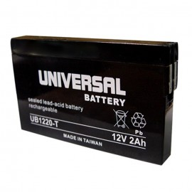 Universal Power UB1220-T 12 Volt, 2 Ah Sealed AGM Battery