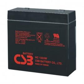 CSB HC1228W 12 Volt, 7 Ah, 28 Watt High Rate Sealed AGM Battery