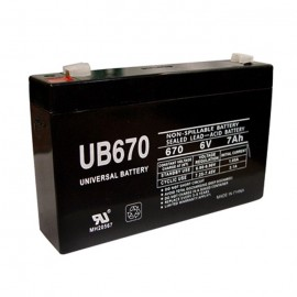 Universal Power UB670 6 Volt, 7 Ah Sealed AGM Battery