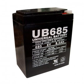 Universal Power UB685 6 Volt, 8.5 Ah Sealed AGM Battery