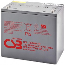 CSB HRL12200W FR 22NF 52 ah High Rate Long Life UPS Backup Battery