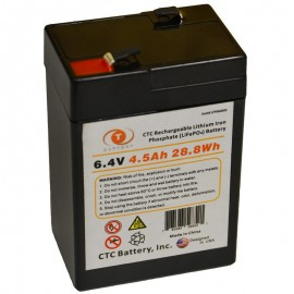 6.4 Volt 4.5 ah LiFePO4 Lithium Iron Phosphate Battery w/ BMS