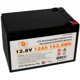 12.8 Volt 12ah LiFePO4 Lithium Iron Phosphate Battery w/ BMS