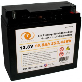 12.8 Volt 20 ah LiFePO4 Lithium Iron Phosphate Battery w/ BMS