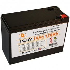 12.8 Volt 10 ah LiFePO4 Lithium Iron Phosphate Battery w/ BMS