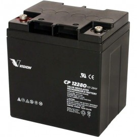 CP12280S-X 12 volt 28 ah Tall Sealed AGM Vision Battery