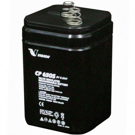 Cp650s Rechargeable Sla Agm 6v 5ah Vision Lantern Battery Spring Top
