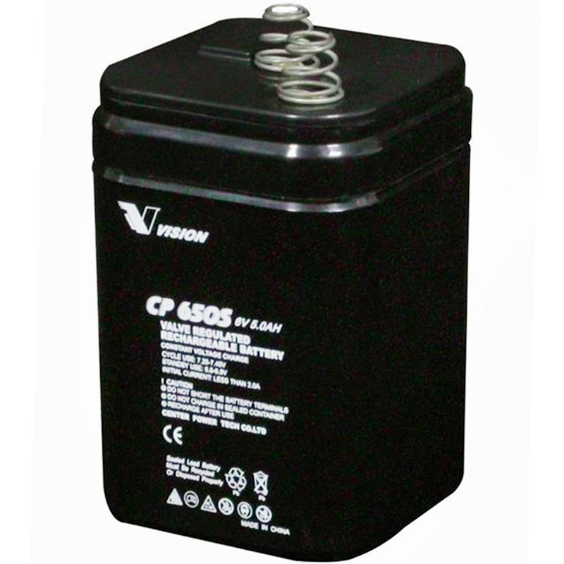 Cp650s Rechargeable Sla Agm 6v 5ah Vision Lantern Battery Spring Top Jpg