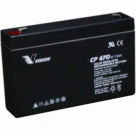 CP670 Sealed AGM 6 volt 7 ah Vision Battery