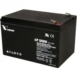 S CP12120 Sealed AGM 12 volt 12 ah Vision Battery F2 .250 terminals