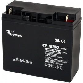 S CP12180 Sealed AGM 12 volt 18 ah Vision Battery