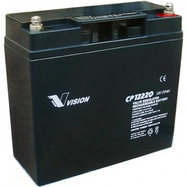 S CP12220 Sealed AGM 12 volt 22 ah Vision Battery