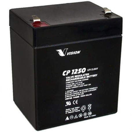 12V 5Ah UPS Replacement Battery Replaces Vision CP1250 8 Pack CP 1250 SPS Brand
