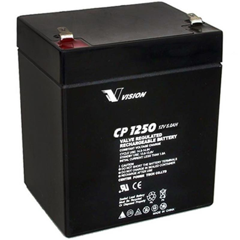 vision s cp1250 sealed agm 12 volt 5 ah battery f1 187 terminals. Black Bedroom Furniture Sets. Home Design Ideas