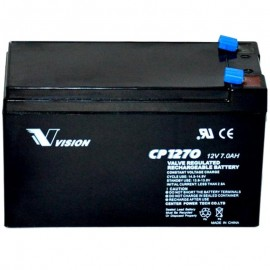 S CP1270 Sealed AGM 12 volt 7 ah Vision Battery F2 .250 terminals