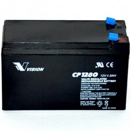 S CP1280 Sealed AGM 12 volt 8 ah Vision Battery F2 .250 terminals