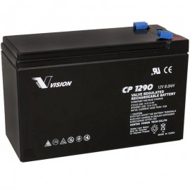 S CP1290 Sealed AGM 12 volt 9 ah Vision Battery F2 .250 terminals