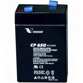 S CP650 Sealed AGM 6 volt 5 ah Vision Battery