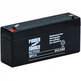 WP3-6 Sealed AGM Battery 6 volt 3 ah Power Source