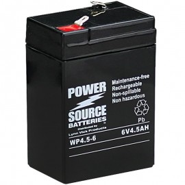WP4.5-6 Sealed AGM Battery 6 volt 4.5 ah Power Source