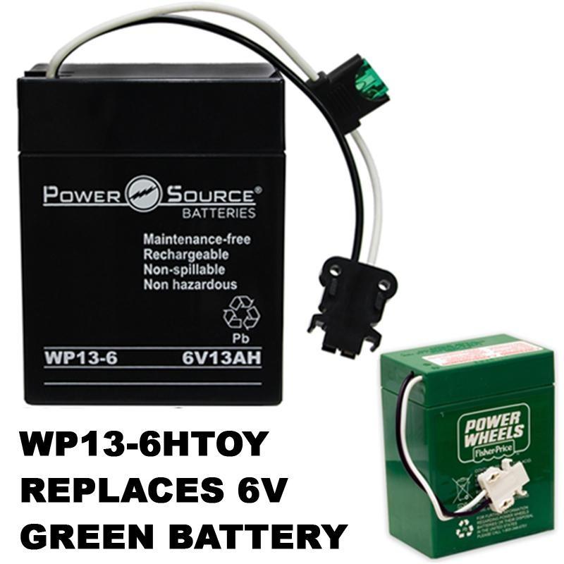Power Wheels M3865 Walmart Barbie VW Blitz 6 Volt Toy Battery