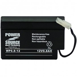 WP0.8-12 Sealed AGM Battery 12 volt 0.8 ah Power Source
