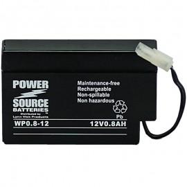 WP0.8-12 Sealed AGM Battery 12 volt 0.8 ah Power Source