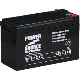 WP7.0-12 T2 Sealed AGM Battery 12v 7.2ah Power Source .250 terminals