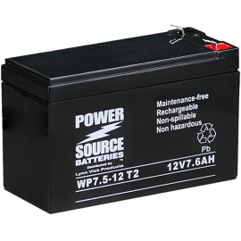WP7.5-12 T2 Sealed AGM Battery 12v 7.6ah Power Source .250 terminals