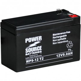 WP9-12 T2 Sealed AGM Battery 12 volt 9 ah Power Source .250 terminals