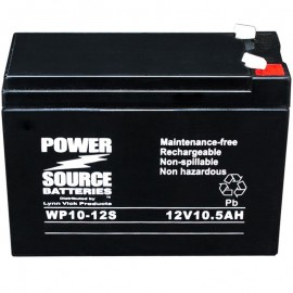 WP10-12S Sealed AGM Battery 12 volt 10.5 ah, 10 ah Power Source
