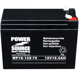 WP10-12S Flame Retardant AGM Battery 12v 10.5 ah, 10ah Power Source
