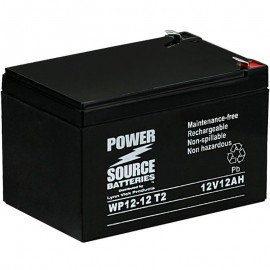 WP12-12 T2 Sealed AGM Battery 12 volt 12 ah Power Source .250 term
