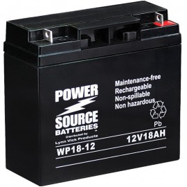 Pride Mobility SPSC60 Revo Sport Replacement Battery 18ah