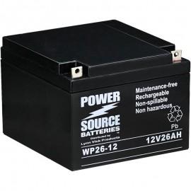 WP26-12 Sealed AGM Battery 12 volt 26 ah Power Source
