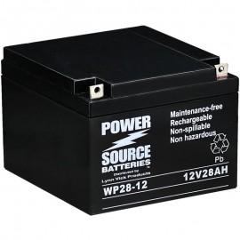 WP28-12 Sealed AGM Battery 12 volt 28 ah Power Source