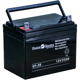 Pride Mobility BATLIQ1008 AGM 12v 35 Ah Replacement Battery U1-35