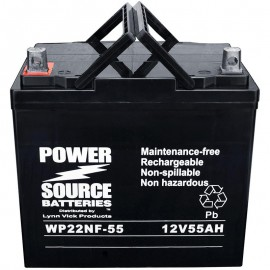 WP22NF-55 Sealed AGM 22NF Battery 12 volt 55 ah Power Source