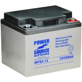 WP50-12 Sealed AGM Battery 12 volt 50 ah Power Source